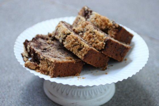 Vintage Kitchen Notes: Chocolate Swirl Walnut Pound Cake