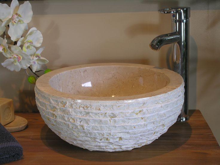 les 25 meilleures idées de la catégorie vasque en pierre naturelle ... - Vasque Beige Salle De Bain