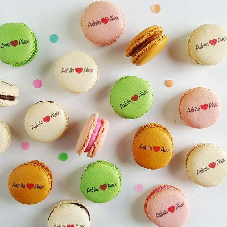 We love seeing all of the different ways that our gorgeous Macarons can be used - especially when it comes to anniversary gift to your partner Make your special date more special with these Custom Printed Macarons today