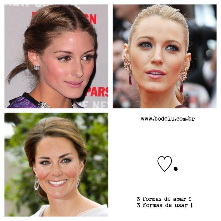 3 formas de amar 3 formas de usar cabelo preso e brincões