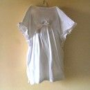 Turn one of your big white t-shirts into a angel costume for kids!