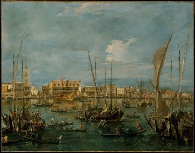 Venice from the Bacino di San Marco by Francesco Guardi, European Paintings