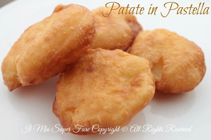 Patate in pastella fritte croccanti e saporite. Un'avvolgente pastella lievitata per delle patate fritte croccanti fuori e morbide dentro. Ricetta facile.