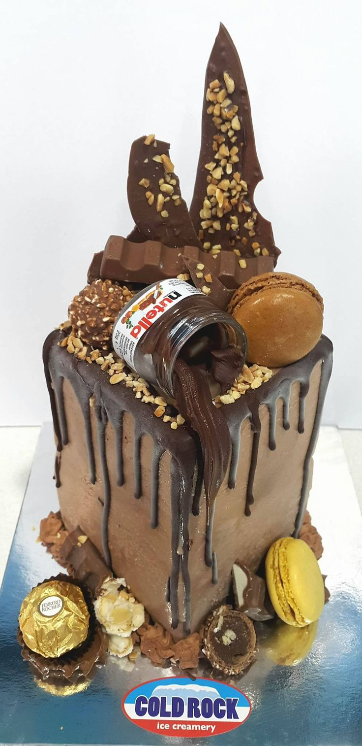 ice cream cake made by Cold Rock Aspley, Deception Bay & Everton Park. tower ice cream cake for your next celebration at home or work