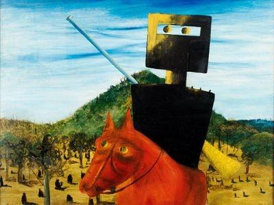 Ned Kelly by Australian painter Sidney Nolan, 1947