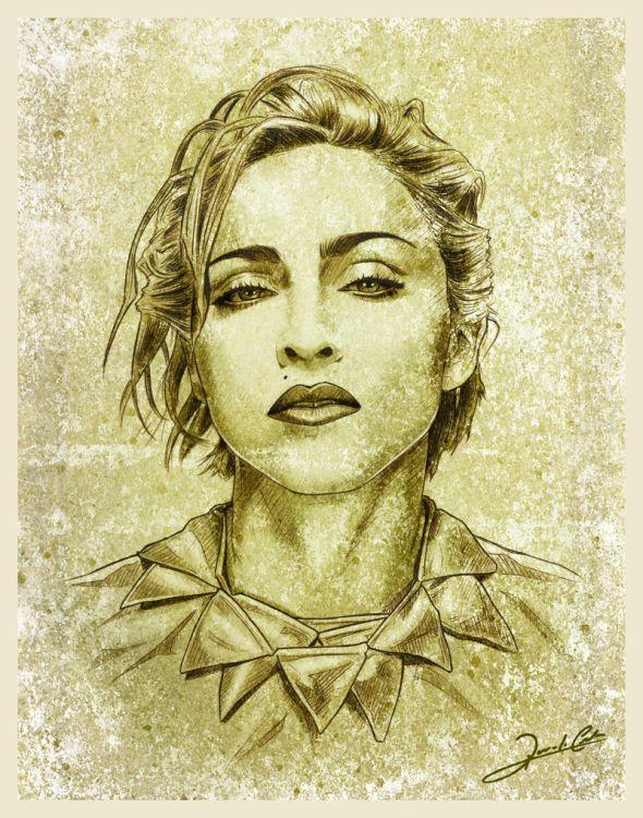ART :: Madonna Illustration - by Renato Cunha