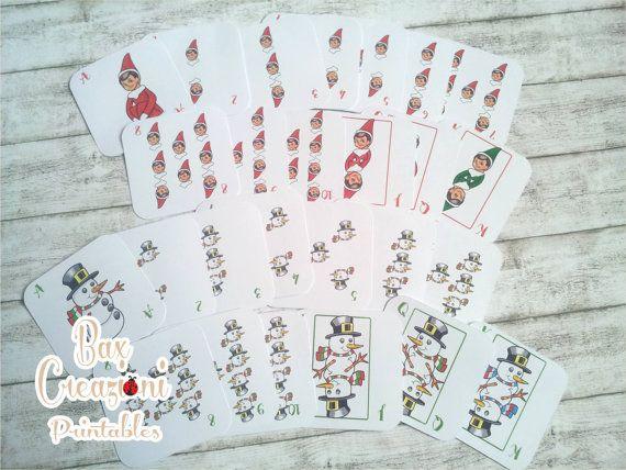 Christmas Playing Cards - Printable. Etsy shop