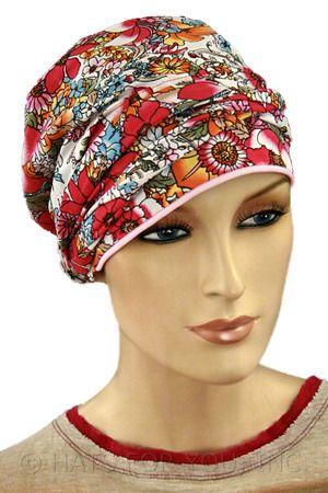 Pink Garden Short Tail Headwrap
