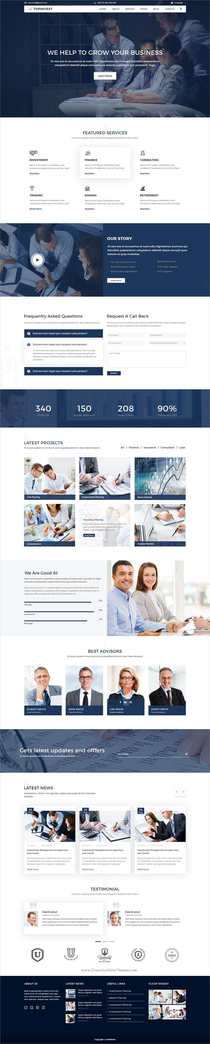 TopInvest is a wonderful #PSD template for #finance, #business and corporate website with 15 layered PSD files download now➩ https://themeforest.net/item/topinvest-business-finance-psd-template/19711604?ref=Datasata