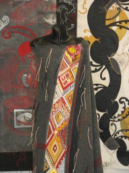 Alixene Curtis - a korowai with painted border