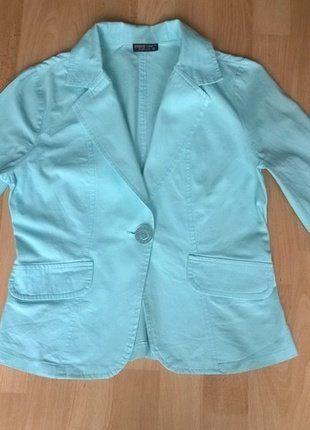 Jarní / letní bavlněné sako v tyrkysové barvě vel. 36.  Kupuj mé předměty na #vinted http://www.vinted.cz/damske-obleceni/saka-saka/15223063-jarni-letni-bavlnene-sako-v-tyrkysove-barve-vel-36