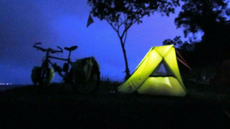 Your touring budies. Moonlight 1 tent from Merapi Mountain outdoor equipment.