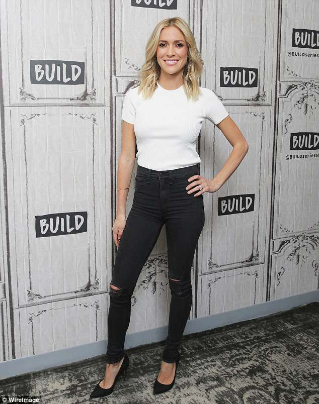 cfb2685dc6e5 Kristin Cavallari is effortlessly stylish in white T-shirt and animal print  as she promotes cookbook | Daily Mail Online