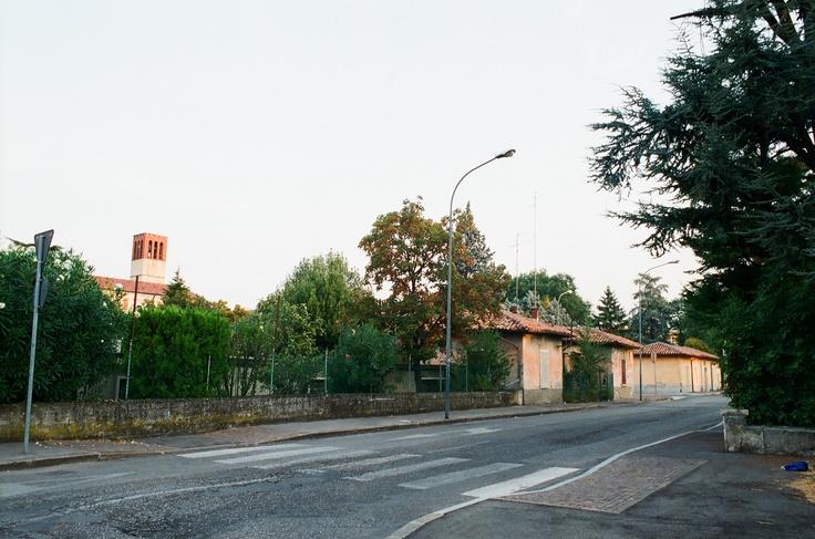 Verona - Quartiere Borgo Nuovo. Casette del villaggio Dell'Oca