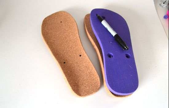 How to Make Cork-Soled Flip Flops from Scratch - Dream a Little Bigger