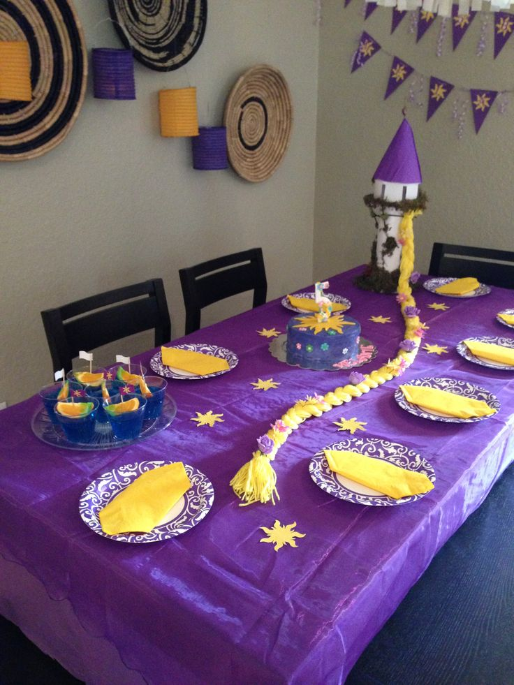 "Rapunzel birthday party theme ""Tangled"""