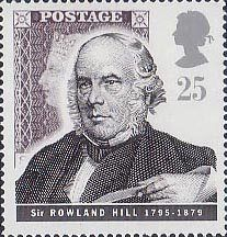 Communications 25p Stamp (1995) Hill and Penny Black