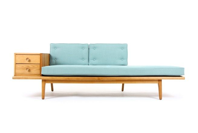 Mid Century Oak Sofa - Mr. Bigglesworthy Designer Vintage Furniture Gallery