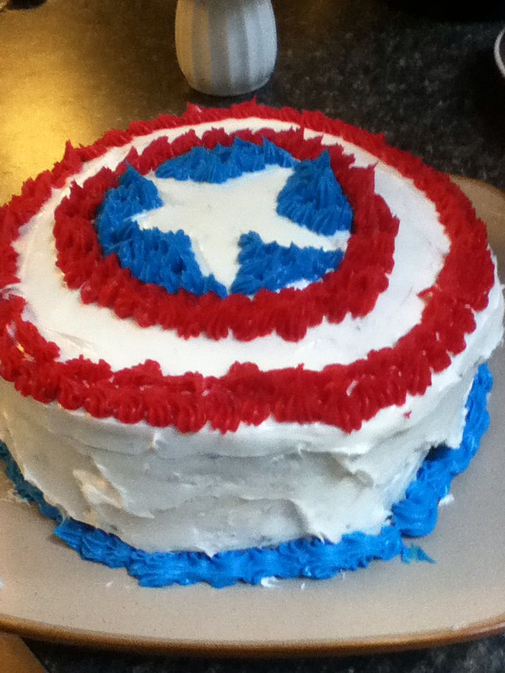 Captain America birthday cake for my brother! B.day ...