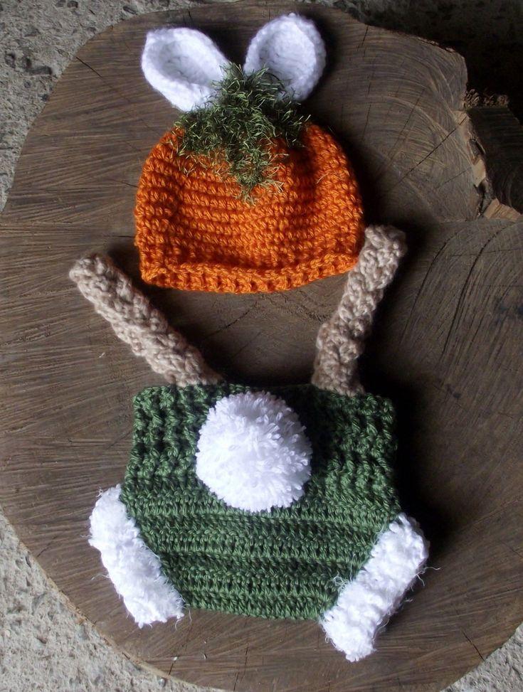 Conjunto confeccionado em fio antial�rgico em croch�, <br>detalhes - bot�es, orelhas e pompom <br>cor - verde/cenoura e bege <br>tamanhos - RN/ 1 a 3 / 3 a 6 meses