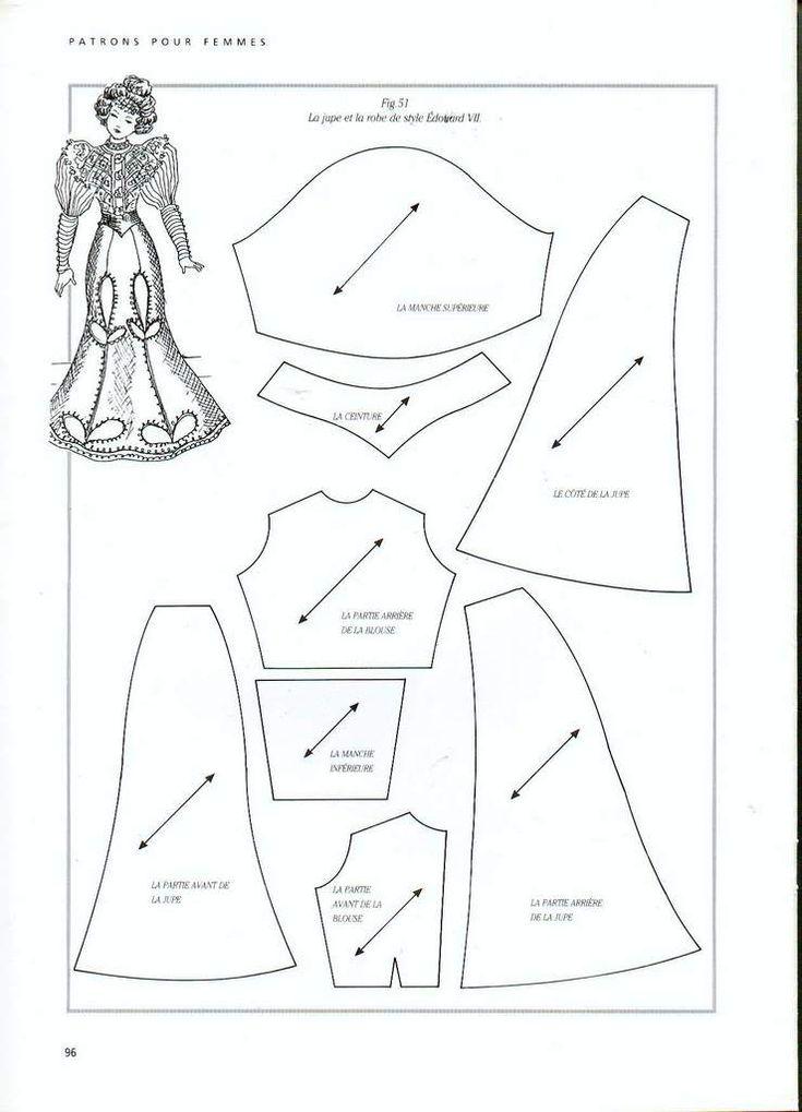 Foro de casas de muñecas y miniaturas :: Ver tema - Patrones de vestidos. Patterns for dolls -- good reference!
