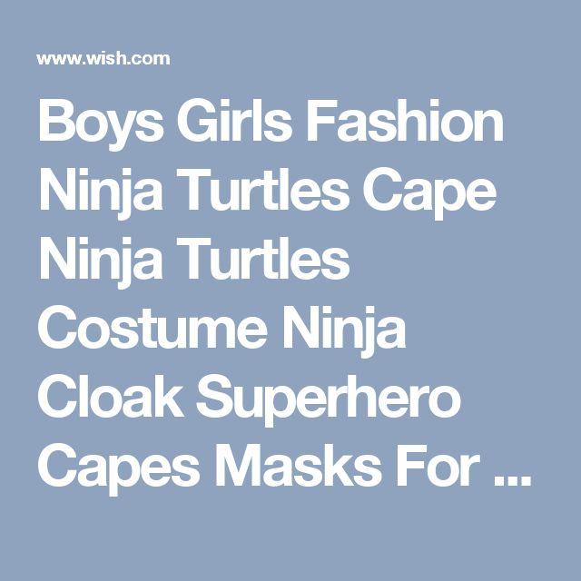 Boys Girls Fashion Ninja Turtles Cape Ninja Turtles Costume Ninja Cloak Superhero Capes Masks For Kid Carnival