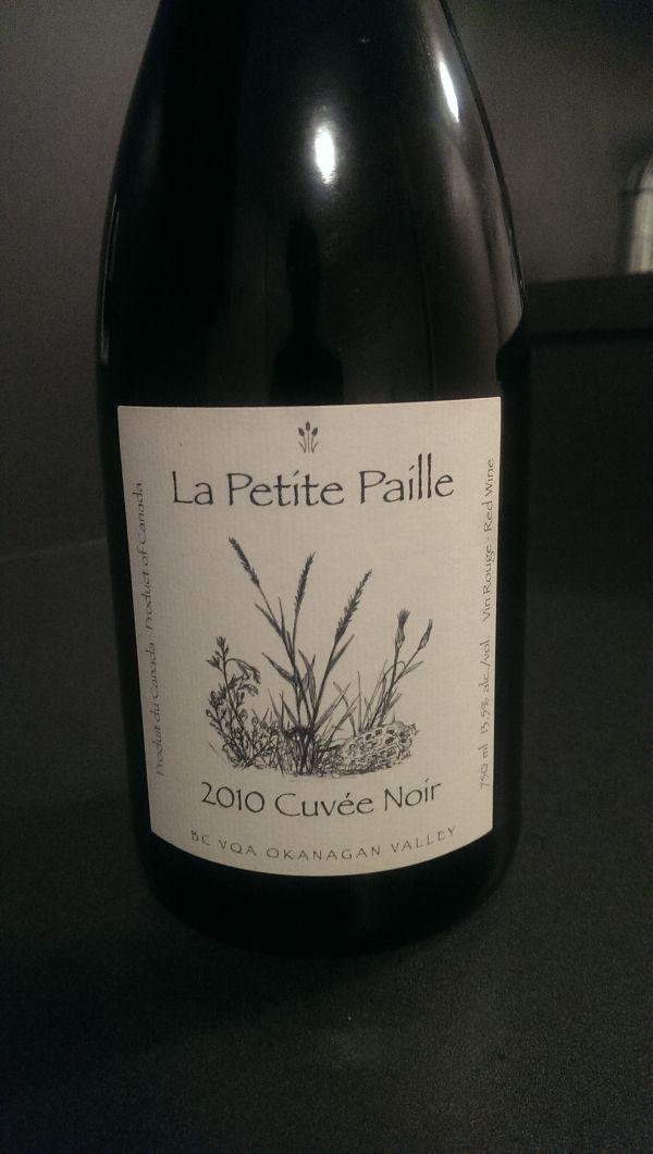 Pulled 'La Petite Paille' 2010 Cuvée Noir out of bale of wines at Swirl, a Yaletown store .