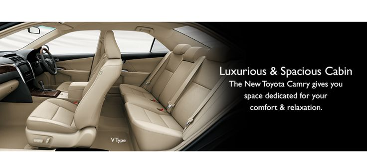 Toyota All New Camry type V -  interior space cabin - The Future Sedan - Auto2000