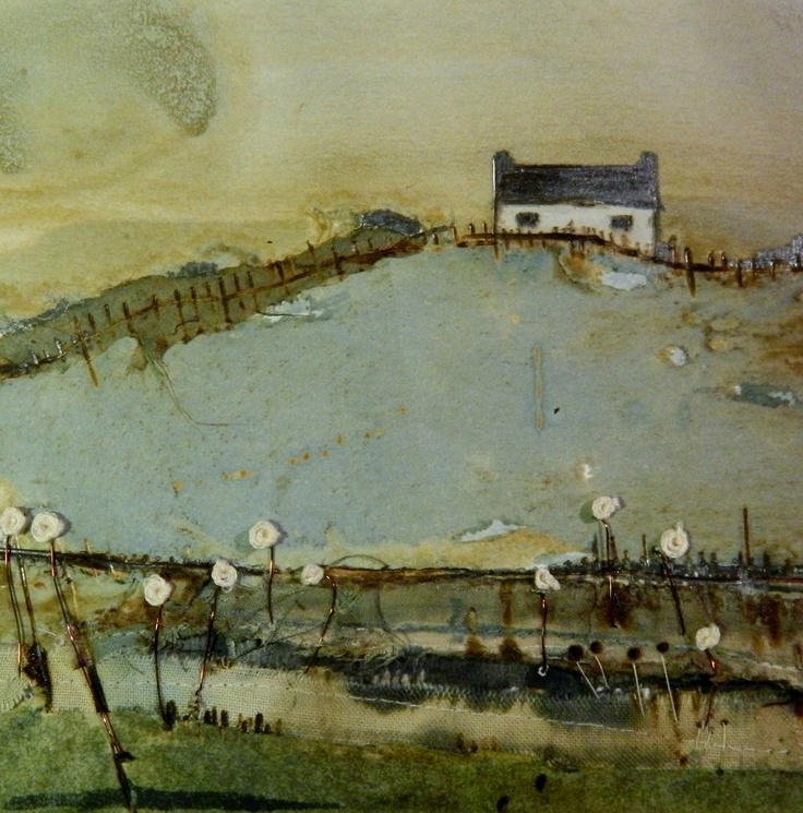 'Lakeside House' by Louise O'Hara of www.drawntostitch.com