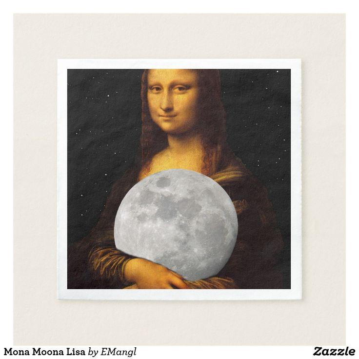 Mona Moona Lisa Paper Napkin by EMangl