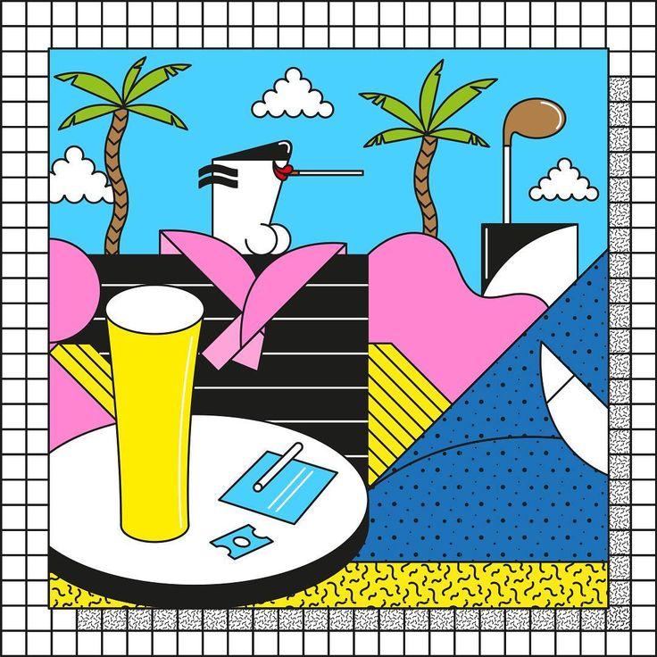 Thad Birdneck van der Douche, coking away at the golf club house, mid 80s. 🍻 . . #art #artwork #illustration #illustrator #print #poster #80s #80 #1980s #memphis #drawing #cocaine #beer #craftbeer #instagood #instahappy #instaart #artoftheday #artsy #vector #vectorart #hembryggning #öl #ölbryggning #golf #postmodern #sega #itsnicethat
