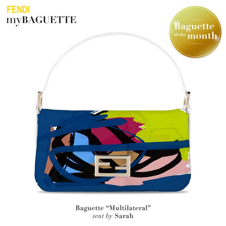 Silvia Venturini Fendi has selected the new Baguette of the Month, created with myBaguette app which allows you to design your own version of the iconic Fendi Baguette bag.