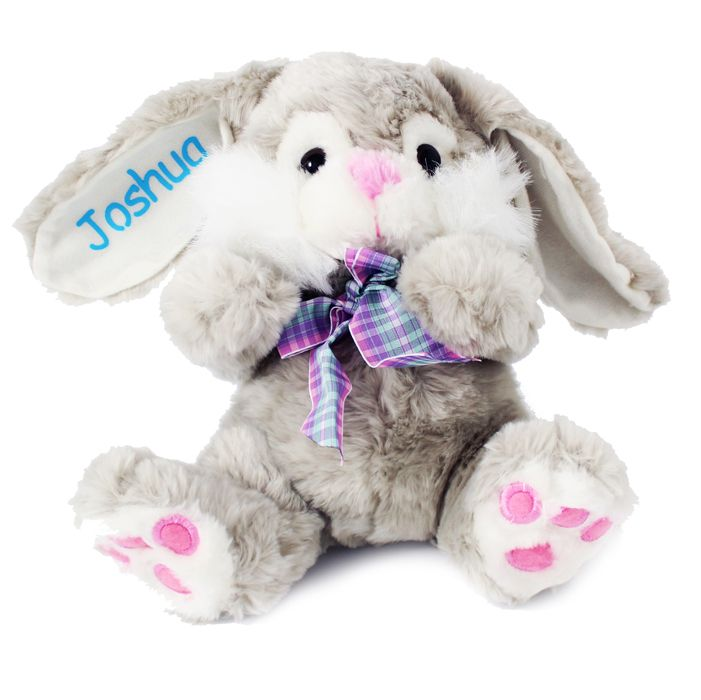 29 best easter gift ideas not just chocolate images on pinterest easter gift ideas personalised bunny with blue name on ear easter gift for boys negle Images