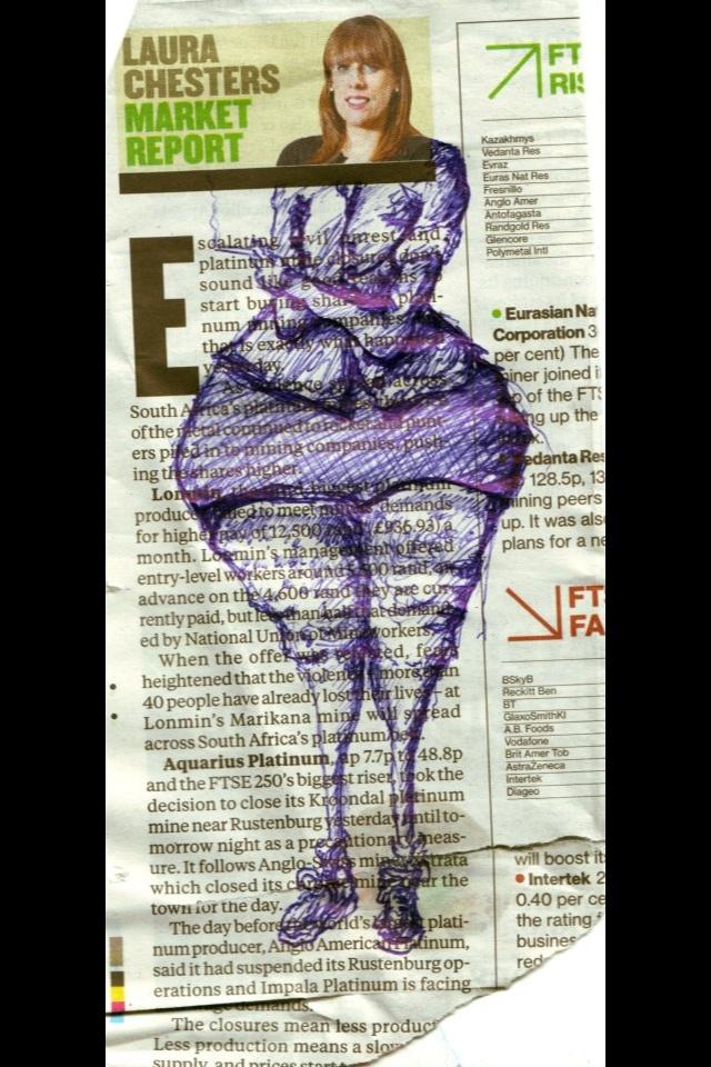 She has hip like me! Art by Simon Eaves SE4 London