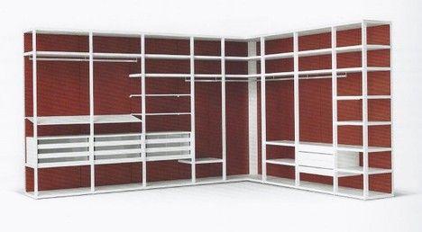"""Cabine Armadio Roma - Questa è la soluzione detta """"a spalla"""". Non richiede fissaggio a parete poichè è autoportante. Molto utile nel caso in cui le pareti accolgano soluzioni di porte a scrigno."""