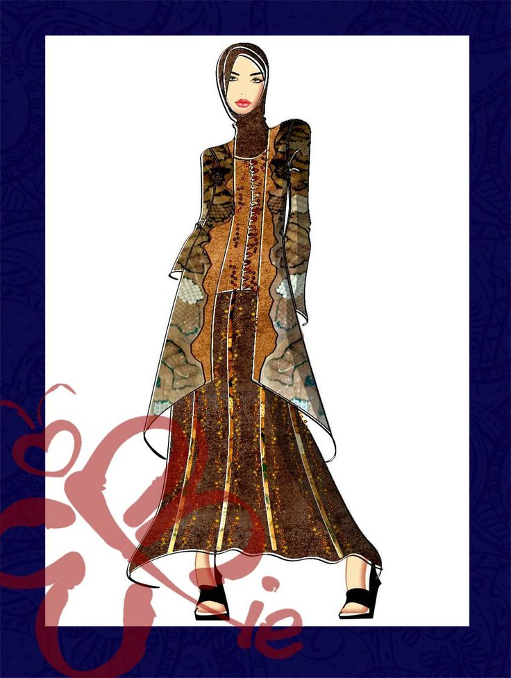 Islamic fashion sketch