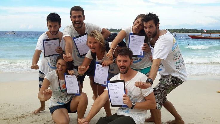 Congrats to the 7 New PADI Dive Instructors at Oceans 5 Gili Air in Indonesia.   Your dream became true. In a few days you can work as a Dive Instructor any where in the world!  Next PADI IDC at Oceans 5 Gili Air starts the 11th of August!  If you are interested or if you like to know more about It write our Course Directors Scuba Giny or Joeri Van Hal an email at idc@oceans5dive.com   Hupla!