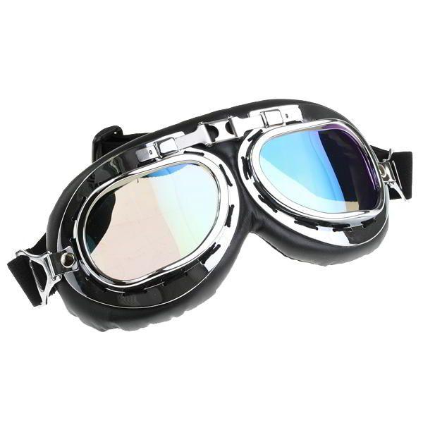 """Estas gafas al estilo retro son un accesorio imprescindible en el armario de cualquier aficionado al """"Steampunk"""".Tienen un marco plateado estilo arcoiris con cristales ahumados y un acolchado en piel de imitación.Son articuladas permitiendo que se doblen completamente y tienen una cinta elástica totalmente ajustable para la cabeza.  Color: negro y plateado arcoiris  Dimensiones: 21 x 9cm  Te garantizan comodidad y estilo,ademas de ser ajustables  Cantidad: Lote con 12 gafas Steampunk"""