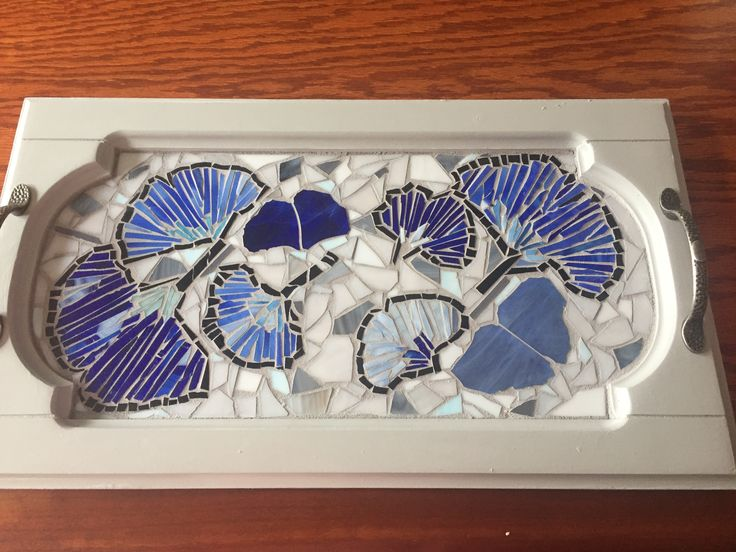 Mosaic tray for my sister. ❤️