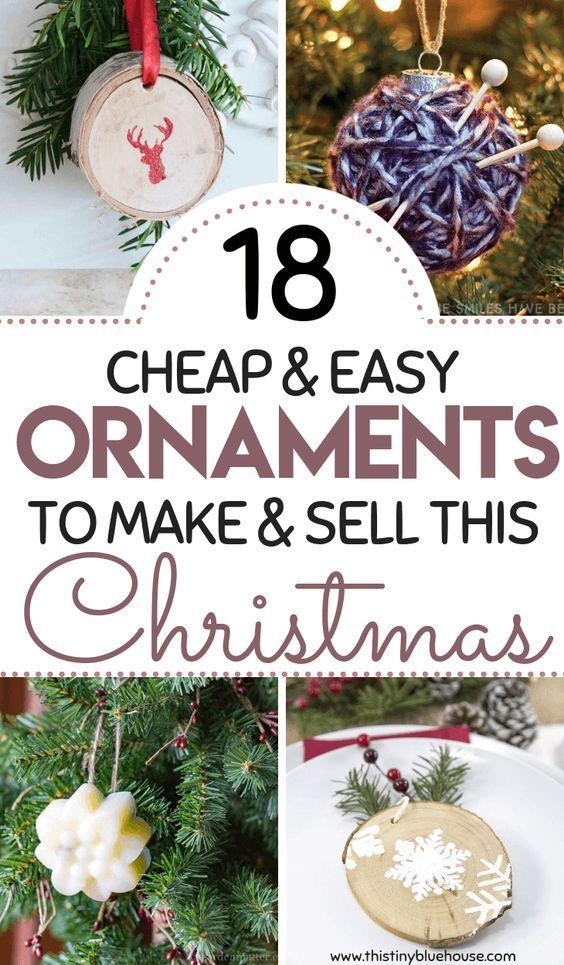 18 DIY Christmas Ornaments To Make And Sell | Diy | Pinterest | Diy ...