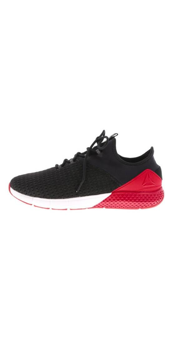 White Sport Shoe With Black Front Tip