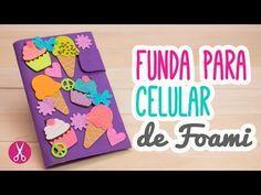 ¿Cómo hacer una funda para celular/móvil casera de cupcakes con foami y cartón? | Manualidades