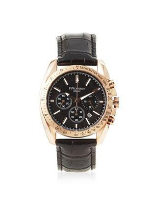 81% OFF Rudiger Men's R1000-09-007L Dresden Black Leather Watch