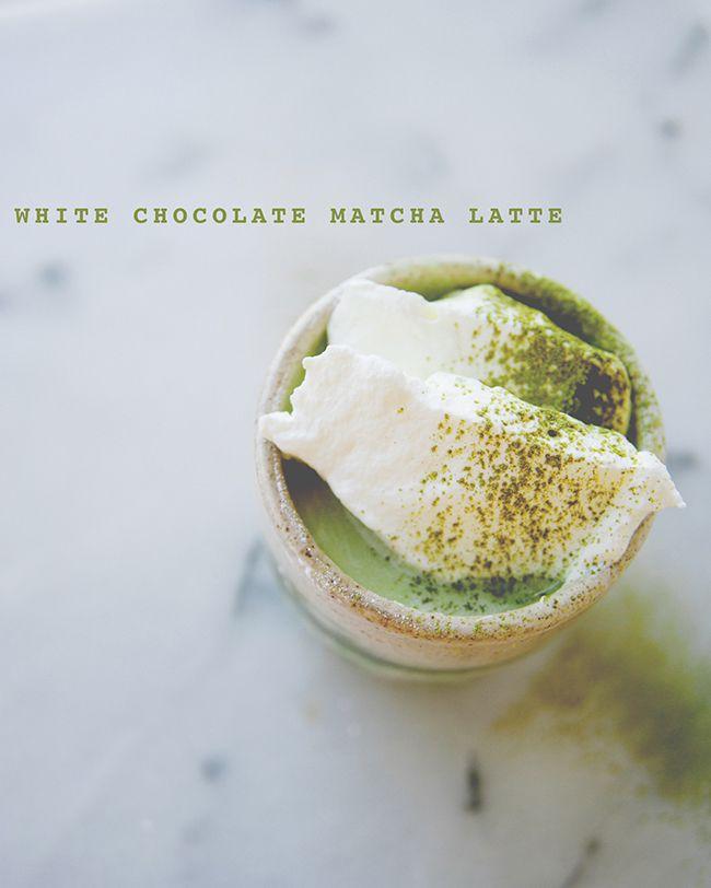 white chocolate matcha latte.