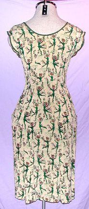 Salvador Dali surrealist print dress, collaboration w/ Wesley Simpson (husband of designer Adele Simpson)