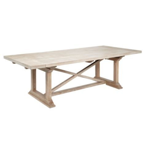 Rencourt dining table white wash from z gallerie 1299 for Z gallerie dining room table