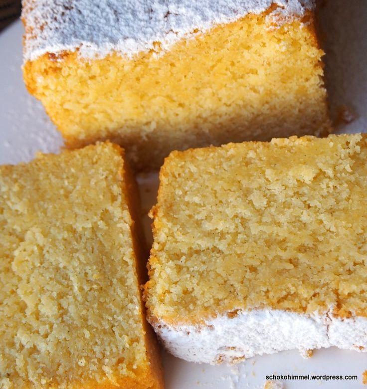 Mandarinen-Grießkuchen mit gemahlenen Mandeln