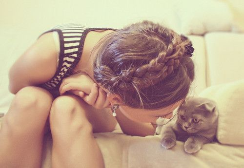 love the hair. and the cat too :)