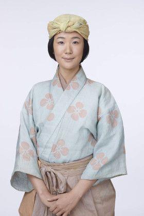 Haru kuroki ( actress ).  Momoyama era costume.