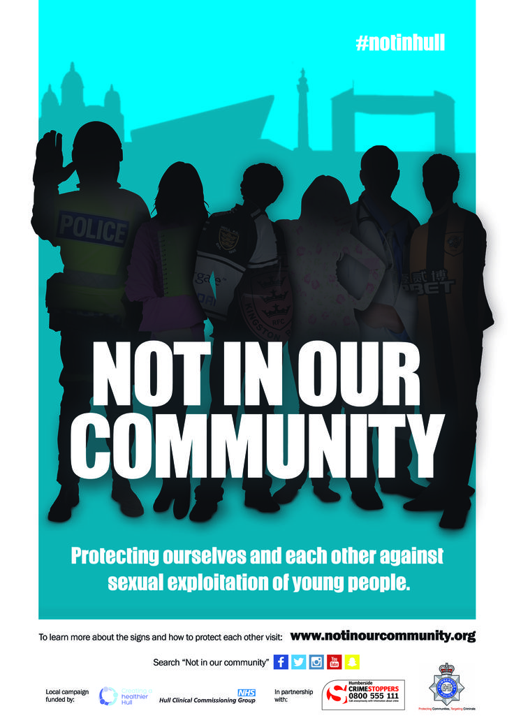 Not in our community poster